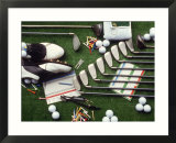 Collection of Golf Equipment; Shoes  Clubs  Etc