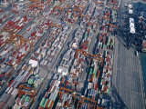 Aerial View of Container Port  Hong Kong  China