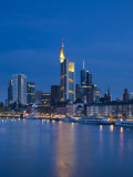 Financial District and Main River  Frankfurt-Am-Main  Hessen  Germany