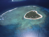 Aerial View of Tropical Island  Tavarua Island  Fiji