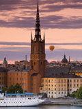 Sunset  Riddarholmen and Gamla Stan  Stockholm  Sweden