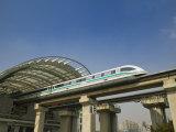 Shanghai Mag Lev Train at Pudong City Station  Pudong District  Shanghai  China
