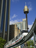Sydney Tower and Monorail  Central Business District Buildings  Sydney  Australia