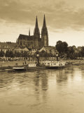 St Peter Cathedral and Town  Dom  Regensburg  Bavaria  Germany