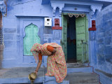 Traditional Blue Architecture  Jodhpur  Rajasthan  India