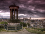 Carlton Hill  Stewart Monument  Edinburgh  Scotland  UK