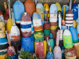 Lobster Buoys  Rockport Harbour  Rockport  Cape Ann  Massachusetts  USA