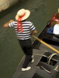 Gondolier  Venice  Italy