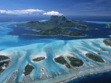 Aerial View over Bora Bora  French Polynesia