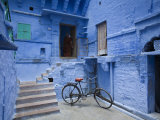Traditional Blue Architechture  Jodhpur  Rajasthan  India