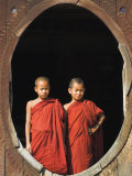 Monks  Shwe Yaunghwe Kyaung Monastery  Inle Lake  Shan State  Myanmar