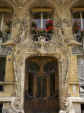 Art Nouveau Doorway  Avenue Rapp  Paris  France