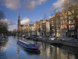 Prinsengracht and Westerkerk in the Background  Amsterdam  Holland