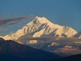 Kangchendzonga Range  View of Kanchenjunga  Ganesh Tok Viewpoint  Gangtok  Sikkim  India