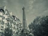 Eiffel Tower and Avenue De Suffren Buildings  Paris  France