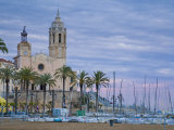 Sitges  Sant Bartomeu I Santa Tecla Church  Catalonia  Spain