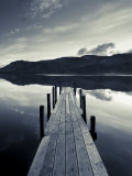 Brandelhow Bay Jetty  Derwentwater  Keswick  Lake District  Cumbria  England