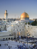 Wailing Wall  Western Wall and Dome of the Rock Mosque  Jerusalem  Israel