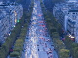 Champs Elysees View from the Arc De Triomphe  Paris  France