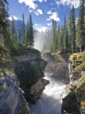 Athabasca Falls Waterfall  Jasper National Park  Alberta  Canada