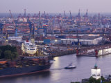 Elbe River and Shipyard  Hamburg  State of Hamburg  Germany