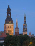 Dome Cathedral  St Peter's  St Saviour's Churches  Riga  Latvia