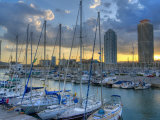 Port Olimpic  Barcelona  Spain