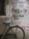 Bicycle and Graffitti  Taikang Road Arts Center  French Concession Area  Shanghai  China