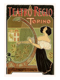 Teatro Regio  Torino: Theatre Royal de Turin Opera House  c1898