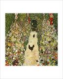 Garden Path with Chickens Giclée par Gustav Klimt