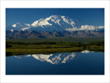 Mt  McKinnley Reflection  Alaska
