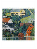 Houses at Unterach on the Attersee Giclée par Gustav Klimt