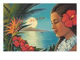 Lever de lune à Aloha Giclée par Kerne Erickson
