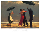 Le majordome chantant Reproduction d'art par Jack Vettriano