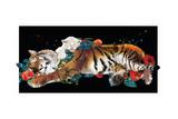 Tiger And Cub Original Reproduction d'art par Nancy Tillman