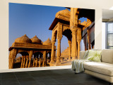 Monuments at a Place of Burial  Jaisalmer  Rajasthan  India