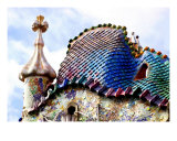 Casa Batllo Roof Top  Barcelona  Spain