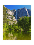 Yosemite Falls With The Merced River