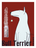 Thé Bull Terrier Giclée premium par Ken Bailey