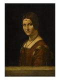 """Portrait d'une dame de la cour de Milan  dit à tort """"la belle ferronnière"""""""