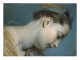 Tête de jeune fille (copie d'un détail de tableau français du début du 18e siècle)