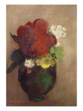 Vase of Flowers  Red Poppy