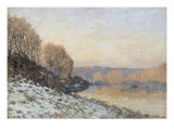 La neige &#224; Port-Marly  gel&#233;e blanche (1872)