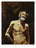 Nude of Old Man in the Sun