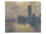 Le Parlement à Londres  ciel orageux