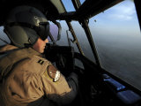 US Air Force C-130J Hercules Pilot Flies a Mission over Afghanistan