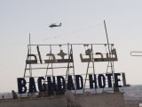 AH-64 Apache in Flight over the Baghdad Hotel in Central Baghdad  Iraq