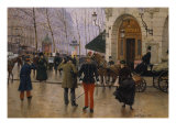 Boulevard Des Capucines at the Site of Theater Du Vaudeville  1889