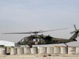UH-60 Blackhawk Prepares to Land at Camp Warhorse to Refuel