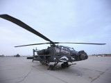 AH-64 Apache Prepares for Takeoff at Camp Speicher